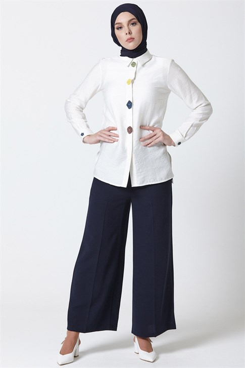 Armine Pants 19YA2756 Navy Blue