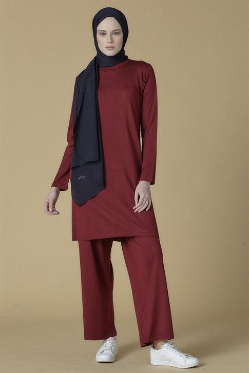 Armine Knitwear Double Suit Plum 9K2031