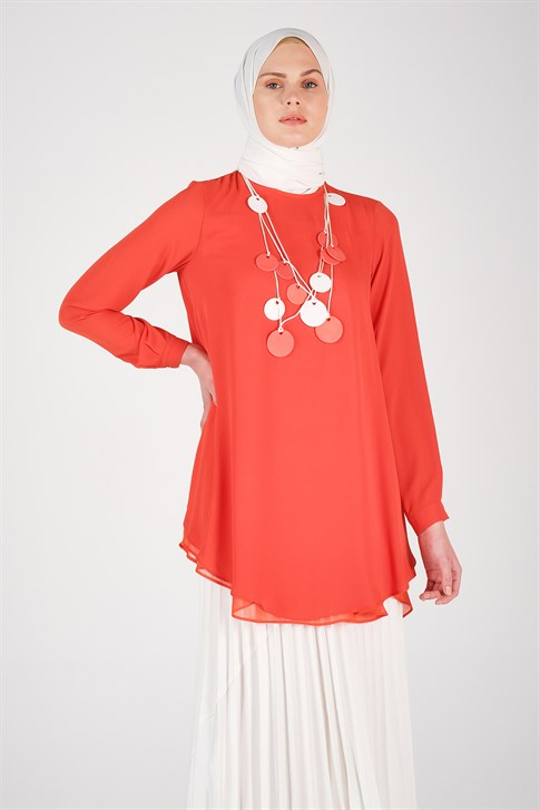 Armine Necklace Tunic Coral 20Y3808