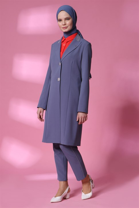 Armine Jacketed Suit 20Y6108 Gray Blue