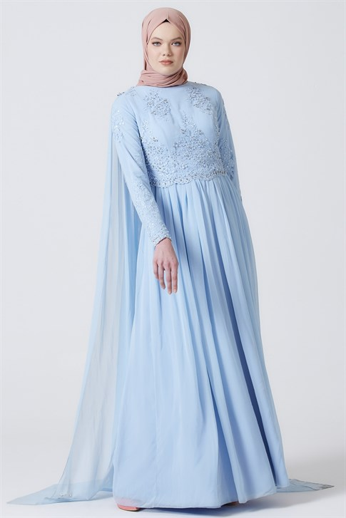 ARMİNE EVENING DRESS 16YA3907 Baby Blue
