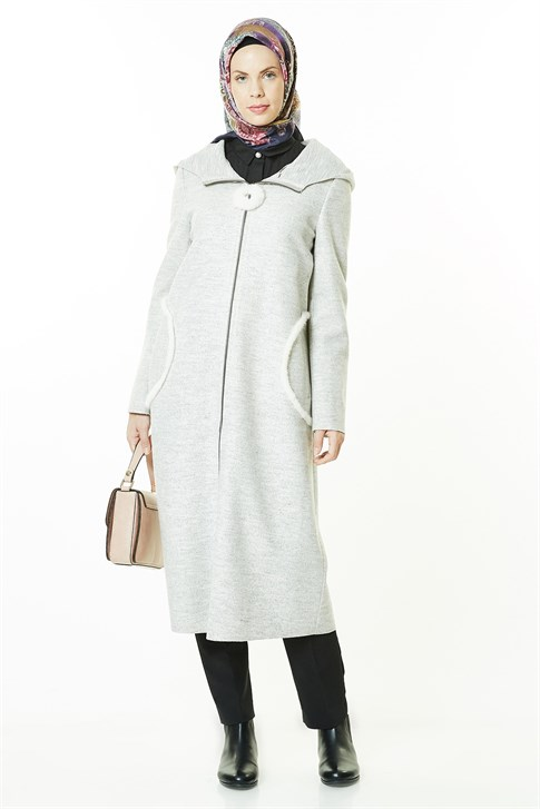ARMİNE COAT 18KA7656 Gray