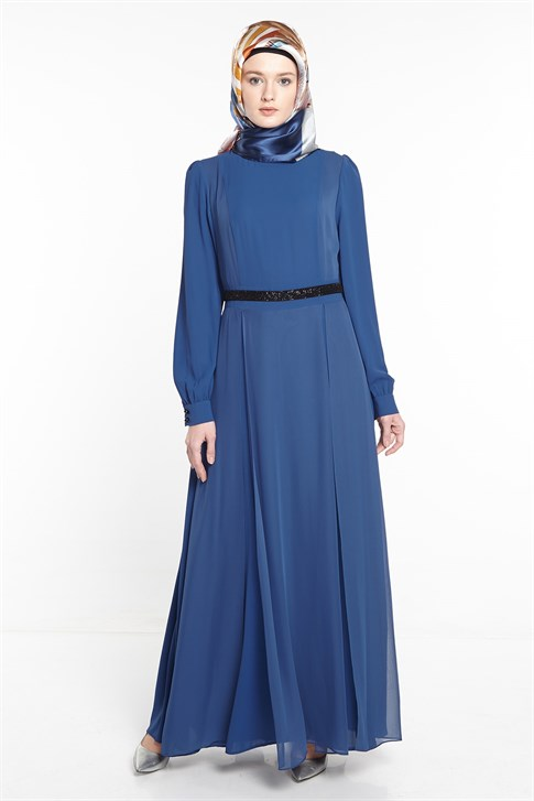 ARMİNE DRESS 18YA9599 Indigo
