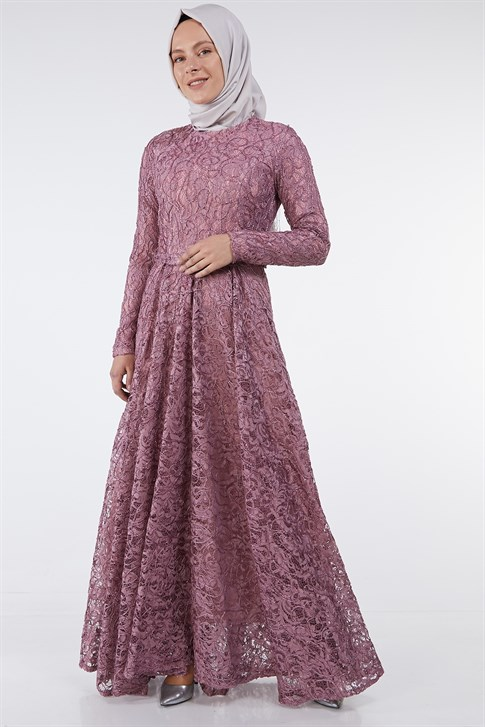 ARMİNE EVENING DRESS 18YA1625 Dusty Rose