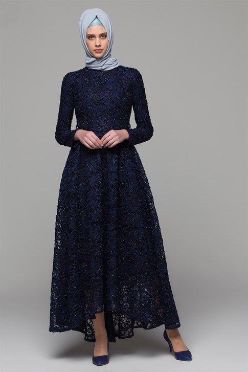 ARMİNE EVENING DRESS 18YA1625 Navy Blue