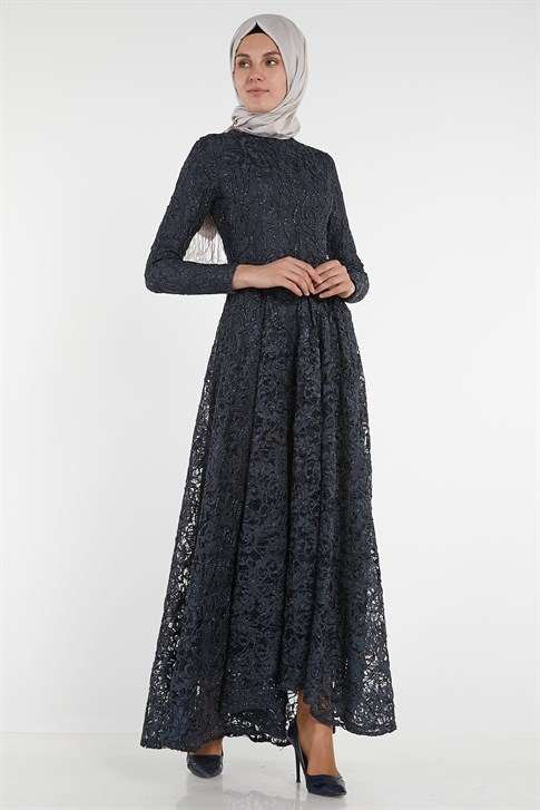 ARMİNE EVENING DRESS 18YA1625 Anthracite
