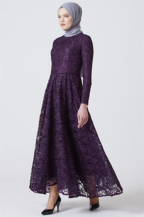 ARMİNE EVENING DRESS 18YA1625 Damson