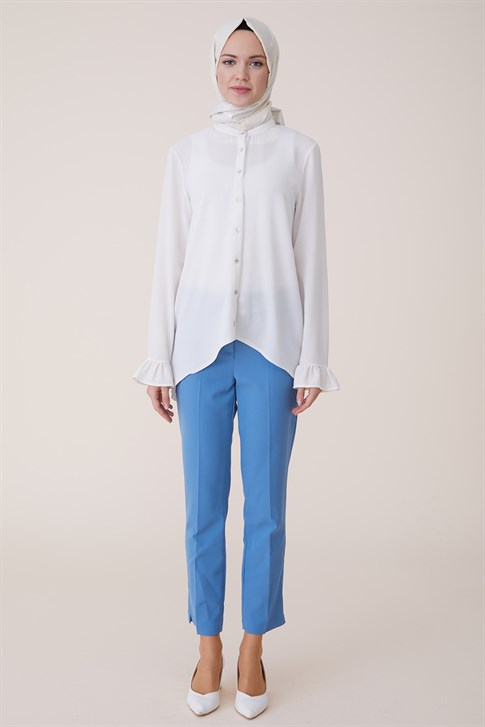 Armine Ankle Length Trousers Blue ORT5500