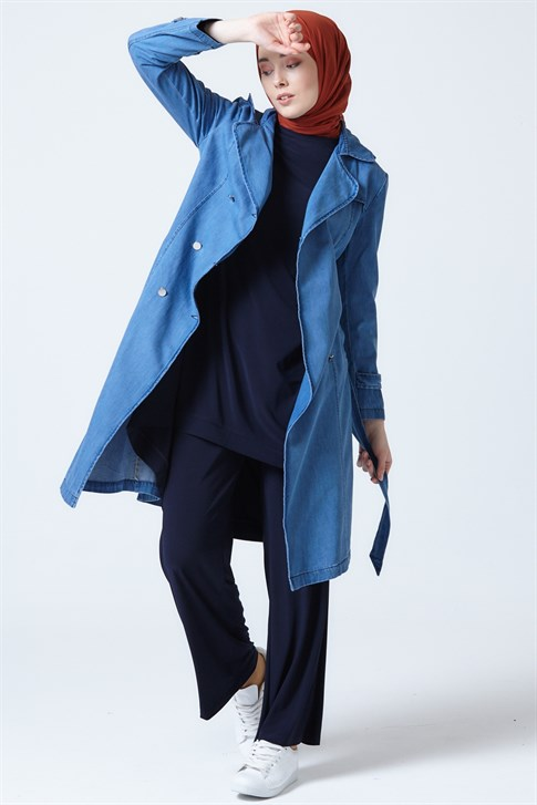 Armine Seasonal Long Jacket Blue 9Y3500