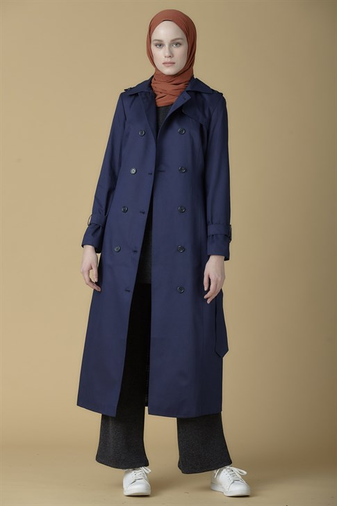 Armine Topcoat 19KA8803 Navy Blue