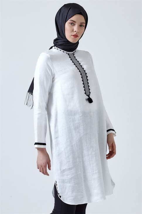 Armine Embroidery Detailed Tunic White 9Y4738