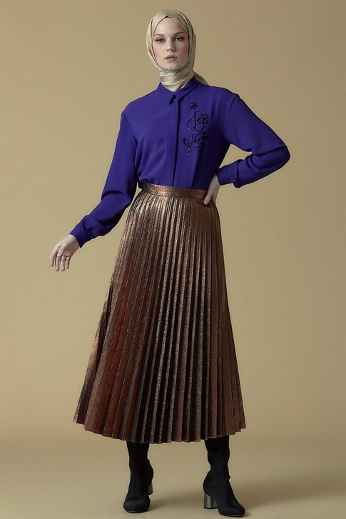 Armine Pleated Skirt Copper 9K1839