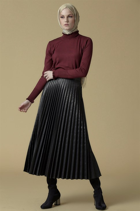 Armine Pleated Skirt Silver 9K1839