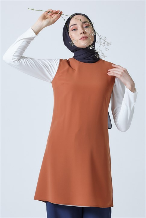 Armine Sleeveless Tunic Tobacco 9Y3019