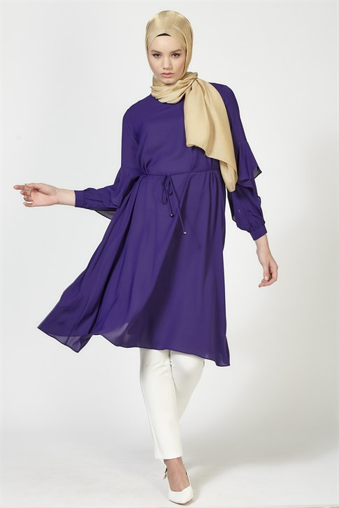 Armine Flounced Detailed Tunic Purple 9K4826