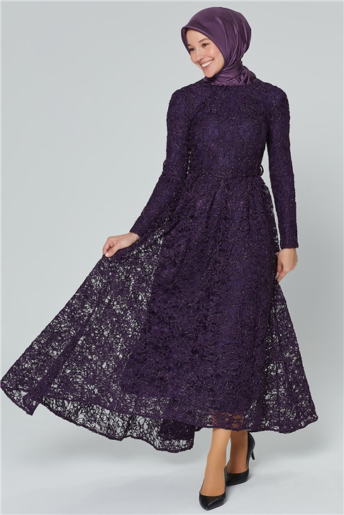ARMİNE EVENING DRESS 18YA1625 Dark Damson