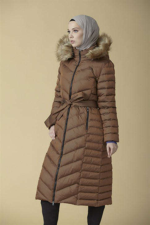 Armine Quilted Long Jacket Copper 9K1004