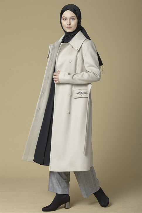 Armine Swarovski Detailed Cachet Coat