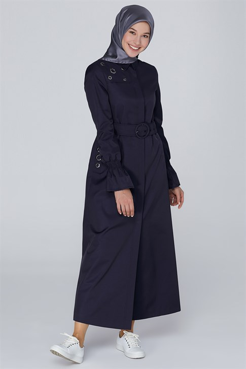 Armine Topcoat 19KA8812 Navy Blue