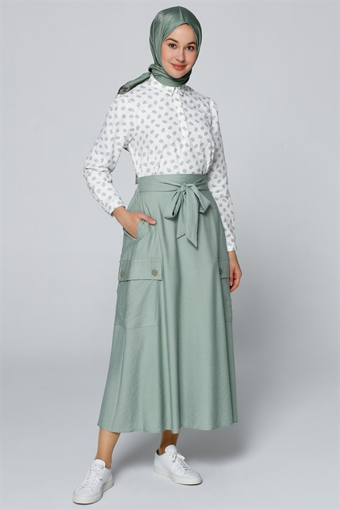 Armine Bow Tie Skirt Mint 20YA1919