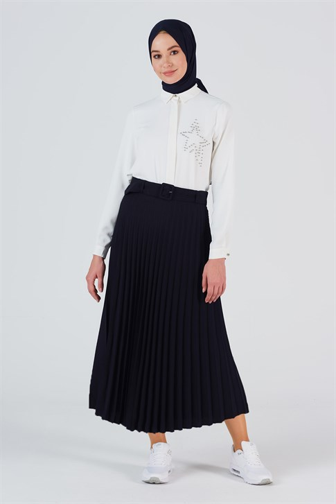 Armine Belli Skirt Navy Blue 20YB1934