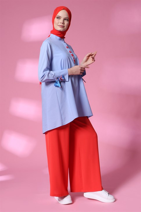 Armine Kurdale Detailed Shirt 20Y3801 Blue