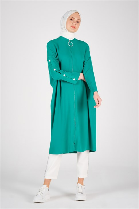 Armine Zippered Dress Exit Green 20Y5107