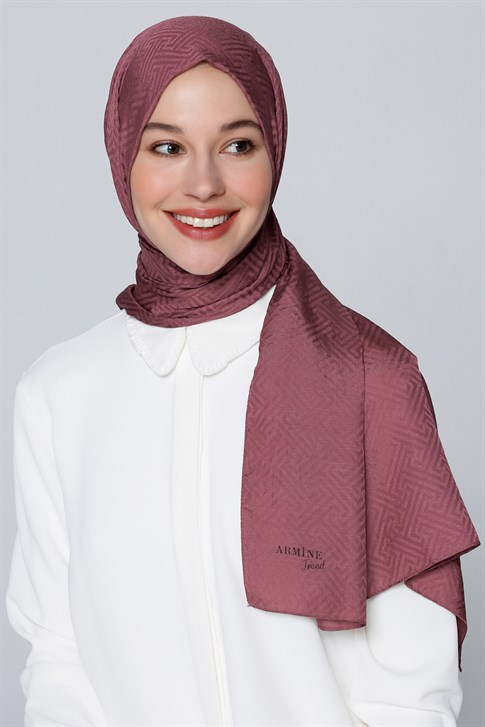 Armine Trend Jacquard Staple Fiber Shawl Light Purple