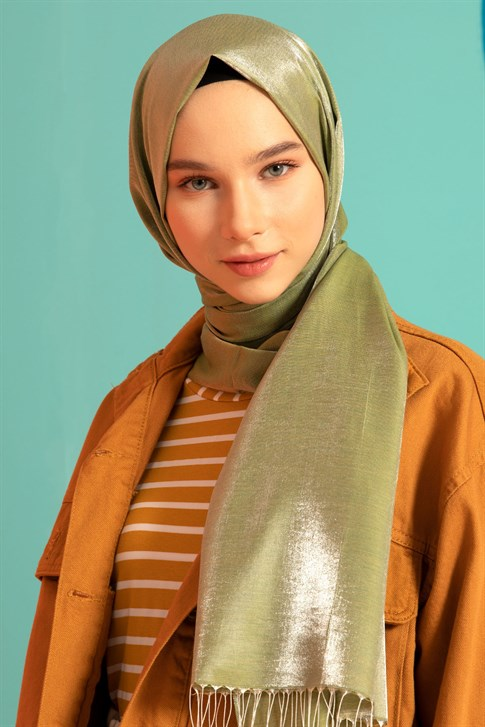 Armine Trend Diamond Shawl Pistachio Green