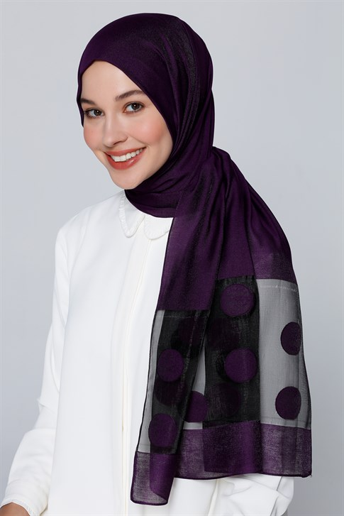 Armine Trend İnci Shawl Purple